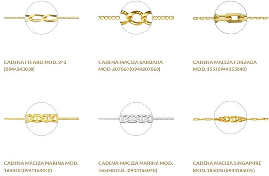 cadenas oro plata madrid