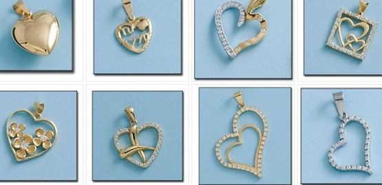 colgantes enamorados oro