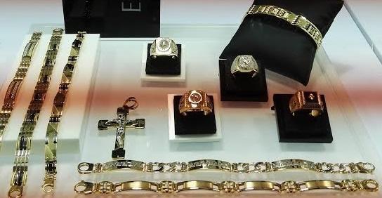 muestrario joyas variadas oro